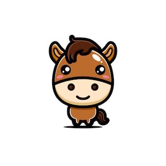 Design de personagens de cavalo bonito