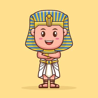 Design de personagens de desenhos animados bonitos faraó
