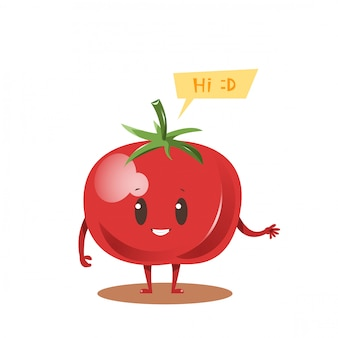 Design de personagens de desenhos animados de tomate