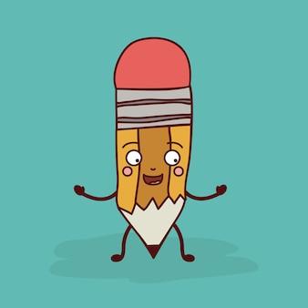 Design de personagens de lápis