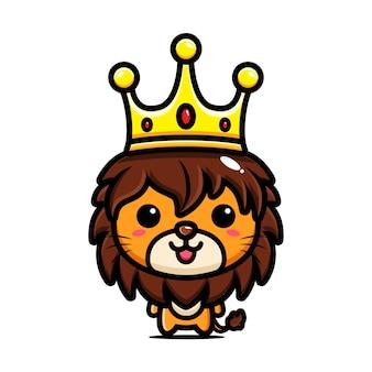 Design de personagens de leão bonito