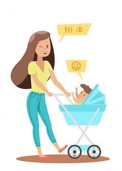 Design de personagens de mãe solteira no2