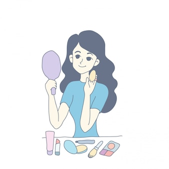 Design de personagens de menina de vetor