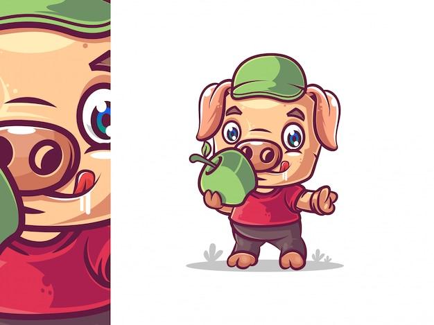 Design de personagens de porco bonito