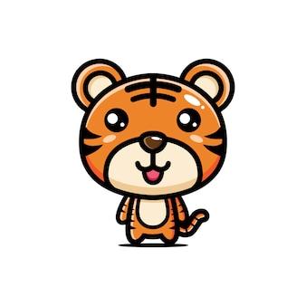 Design de personagens de tigre fofo