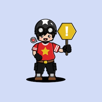 Design de personagens do homem tanque fofo