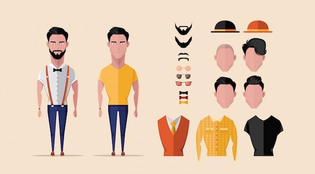 Design de personagens hipster