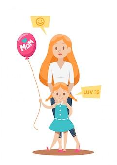 Design de personagens mãe solteira