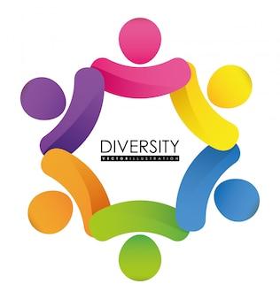 Design de pessoas de diversidade