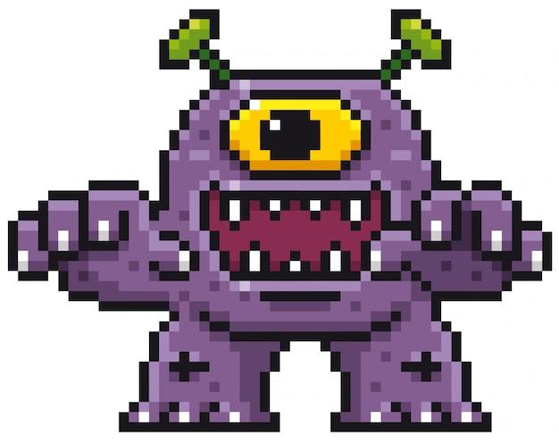 Design de pixel de monstro