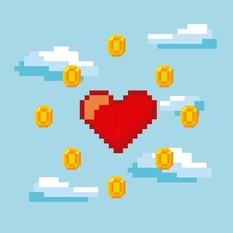 Design de pixel de videogame