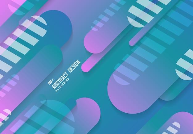 Design de plano de fundo abstrato futurista de linha redonda