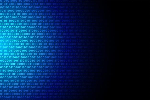 Design de plano de fundo azul azul números de dados de código binário