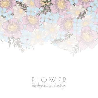 Design de plano de fundo da flor