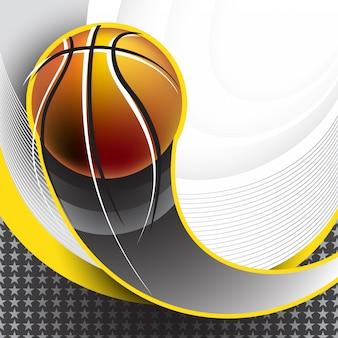 Design de plano de fundo de basquete