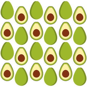 Design de plano de fundo de frutas abacate