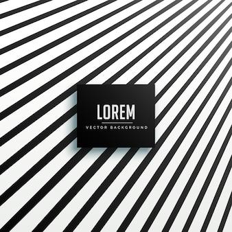 Design de plano de fundo de linhas de perspectiva preto
