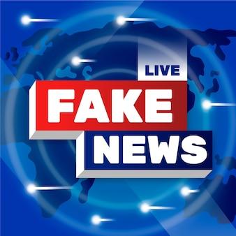 Design de plano de fundo de notícias falsas ao vivo