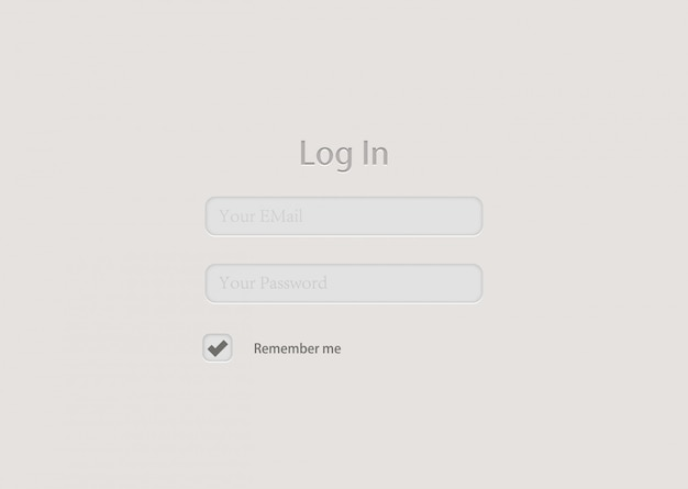 Design de plano de fundo do formulário de login