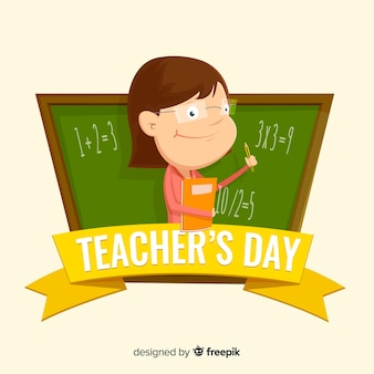 Design de plano de fundo do mundo professores dia