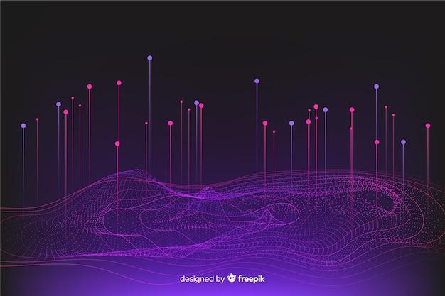 Design de plano de fundo do sistema de dados gradiente