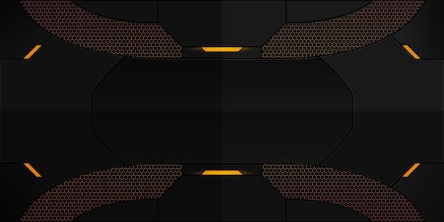 Design de plano de fundo futurista abstrato para jogos