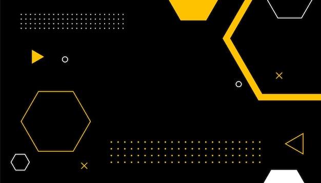 Design de plano de fundo hexagonal em estilo memphis