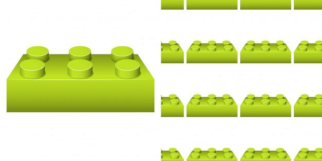 Design de plano de fundo sem emenda com muitos blocos verdes