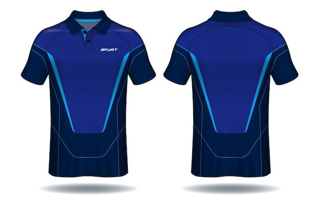 Design de polo de camiseta, modelo de camisa esporte.