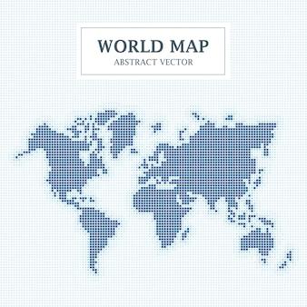 Design de ponto abstrato de mapa mundial.