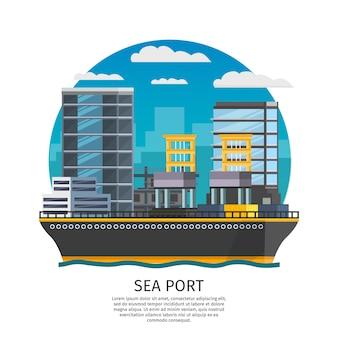Design de porto marítimo