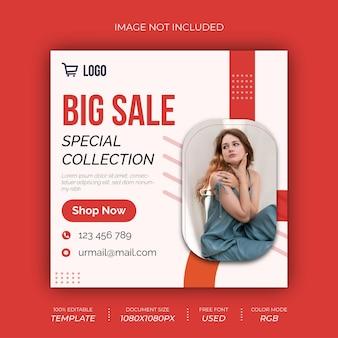Design de postagem de grande vendedor