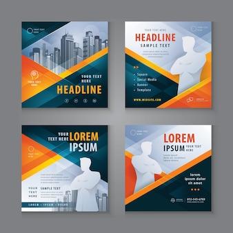 Design de postagem de modelo quadrado de mídia social para marketing digital
