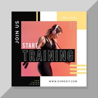 Design de postagem do instagram de esporte