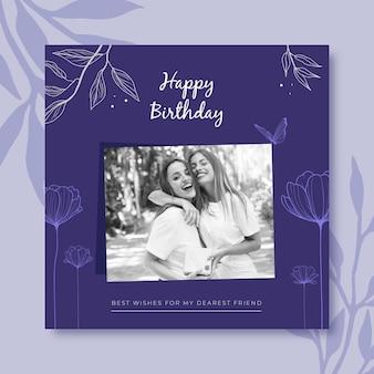 Design de postagens de feliz aniversário no instagram