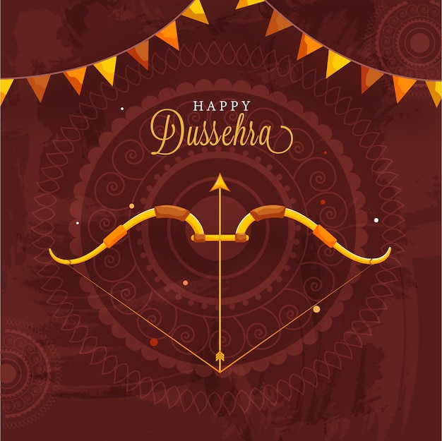 Design de pôster da happy dussehra celebration