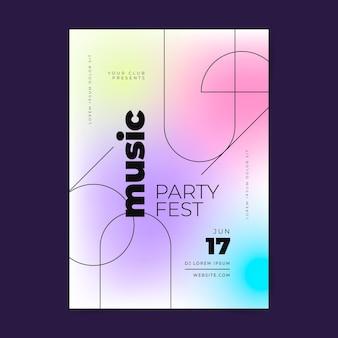 Design de pôster de música gradiente
