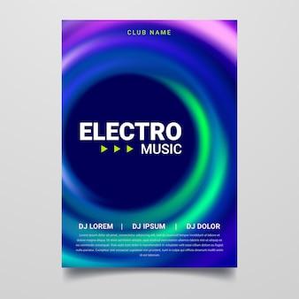 Design de pôster do festival de música eletrônica