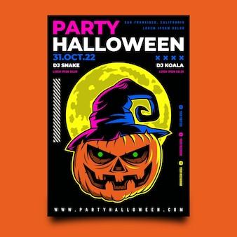 Design de pôster feliz festa de halloween