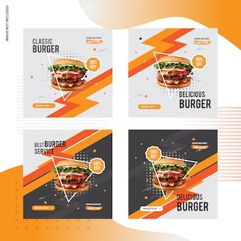Design de posto social de venda de hambúrguer