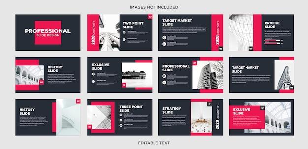 Design de powerpoint vermelho escuro