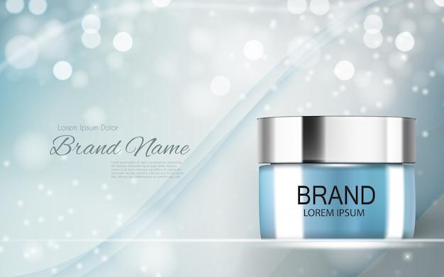 Design de produtos cosméticos 3d ilustração realista