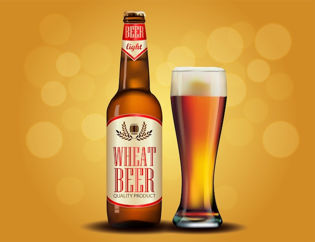 Design de propaganda de cerveja