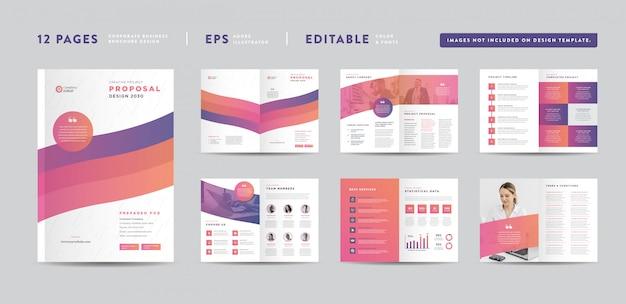Design de proposta de projeto de negócios corporativos | relatório anual e brochura da empresa | design de livretos e catálogos