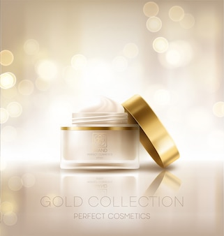 Design de publicidade de produtos cosméticos.