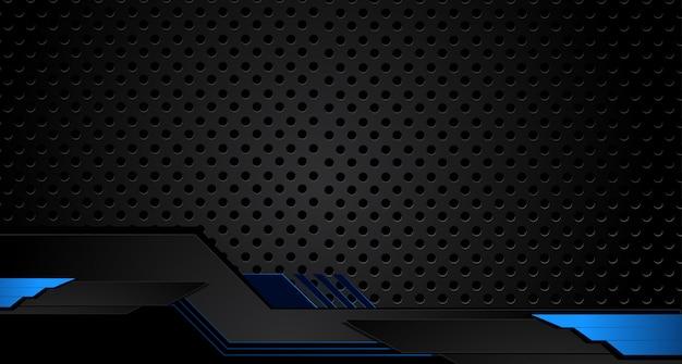 Design de quadro preto azul metálico abstrato