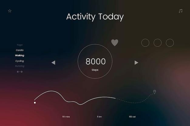 Design de rastreador de atividades