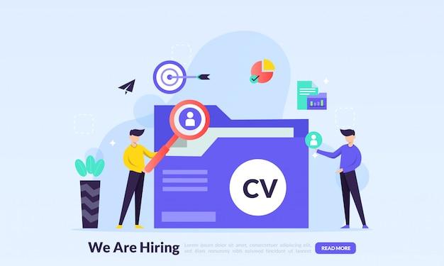 Design de recrutamento online