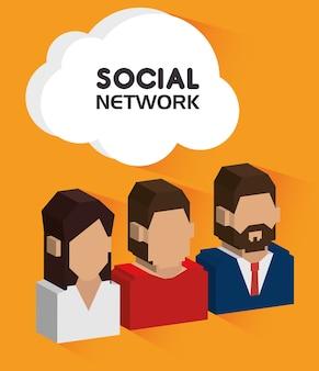Design de rede social.