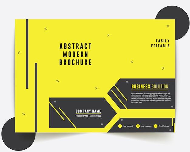 Design de relatório anual de brochura de negócios